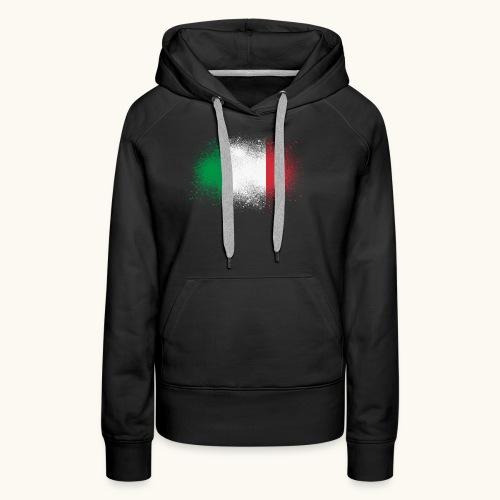 Italie cadeau drôle de drapeau italien grunge - Sweat-shirt à capuche Premium pour femmes