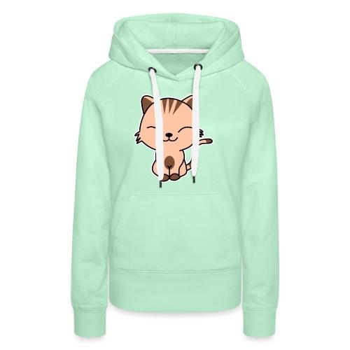 Fröhliche Katze - Frauen Premium Hoodie