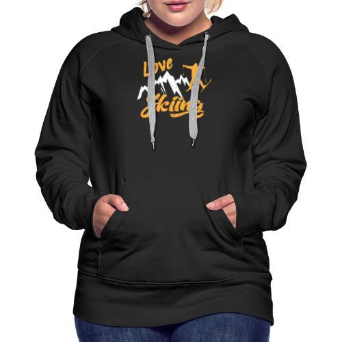 love skiing - Frauen Premium Hoodie