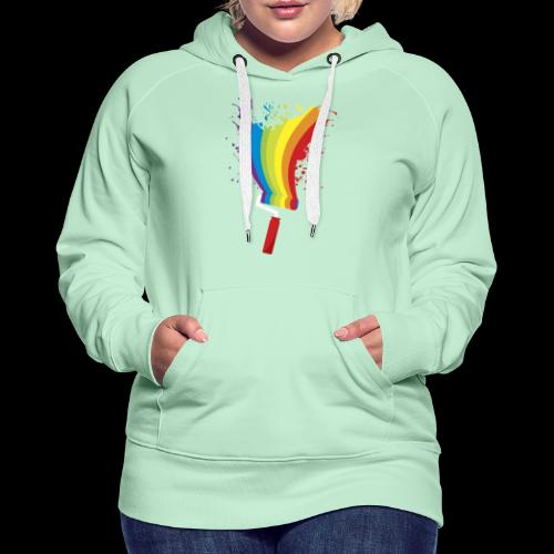 Paint roller Vivid Color - Frauen Premium Hoodie