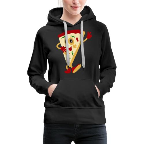 Dammi solo la pizza - Felpa con cappuccio premium da donna