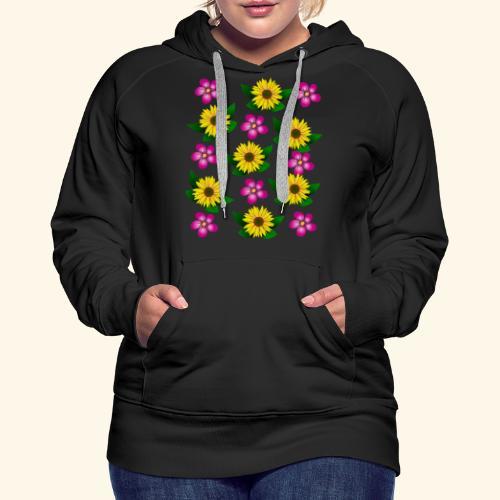 Sonnenblumen, pinke Blumen, floral, Blüten, pink - Frauen Premium Hoodie