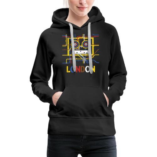 London Tube Map Underground - Frauen Premium Hoodie