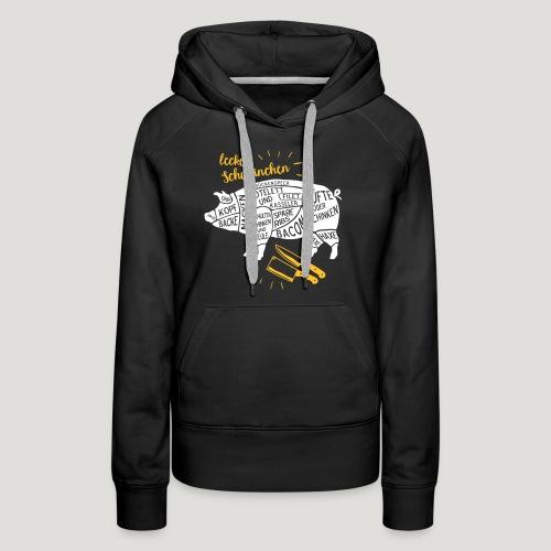 lecker Schweinchen lustiges Grill Shirt Geschenk - Frauen Premium Hoodie