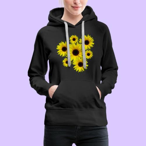 Sonnenblumenstrauß, Sonnenblumen, Blumen, Blüten - Frauen Premium Hoodie