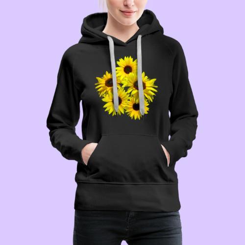 Sonnenblumenstrauss, Sonnenblume, Sonnenblumen - Frauen Premium Hoodie