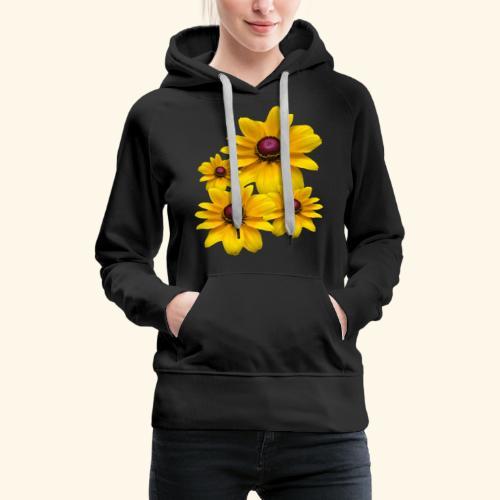 gelb blühende Sonnenhut Blumen, Blüten, floral, - Frauen Premium Hoodie