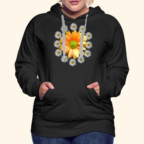 Margeriten mit einer orangen Chrysantheme, Blumen - Frauen Premium Hoodie