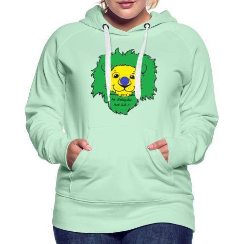Lion supporter Brésil - Sweat-shirt à capuche Premium pour femmes