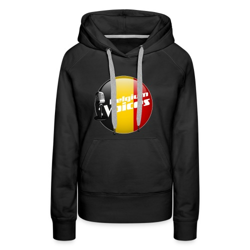 Je soutiens Belgium Voices - Sweat-shirt à capuche Premium pour femmes
