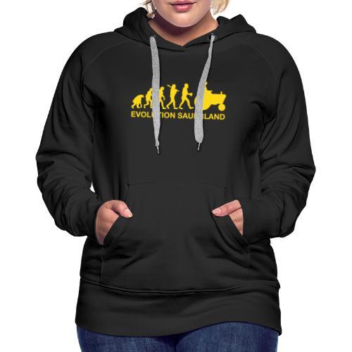 Evolution - Frauen Premium Hoodie
