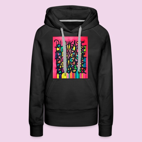 PhotoEditor-1458110854945 - Sweat-shirt à capuche Premium pour femmes