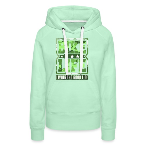 Bikelife Green Camo - Women's Premium Hoodie