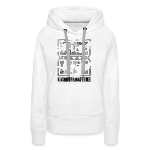 Bikelife White Camo - Women's Premium Hoodie