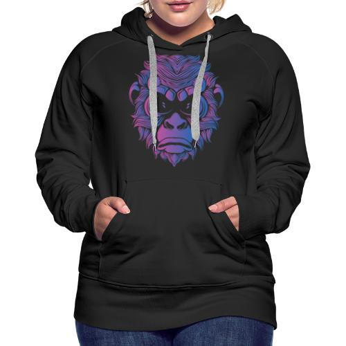 Affe Gorilla Gesicht - Frauen Premium Hoodie