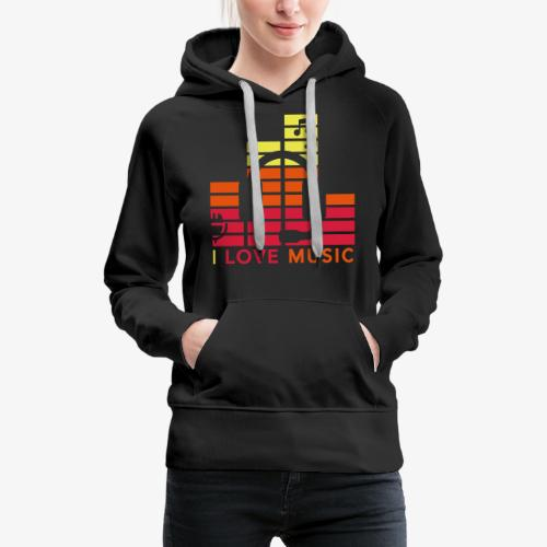 I love music Illustration Gig Band Musik Godigart - Frauen Premium Hoodie