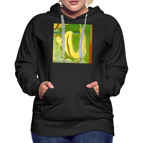 Abstract Green Gold Red - Women's Premium Hoodie
