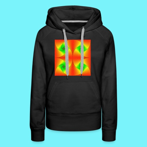 Pursuit curves in red and green - Women's Premium Hoodie