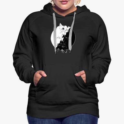Yin and Yang - Sweat-shirt à capuche Premium pour femmes