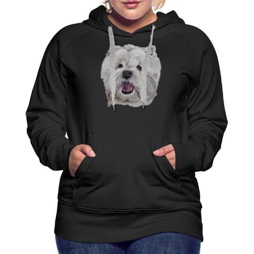 westhighland White terrier - Dame Premium hættetrøje