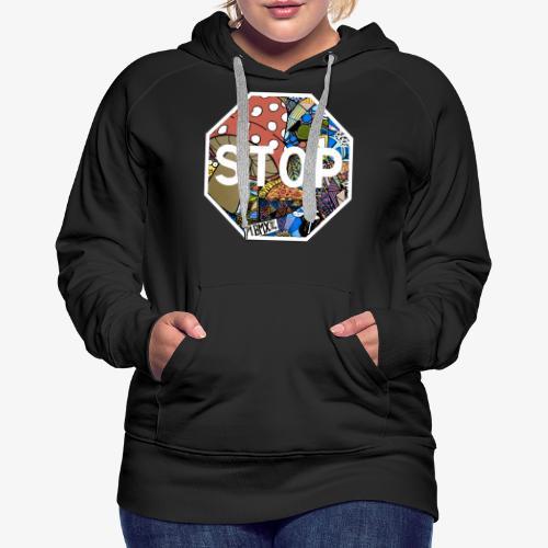 panneau stop pidraw - Sweat-shirt à capuche Premium pour femmes