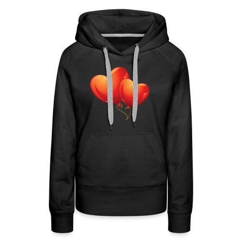 Malliot coeur - Sweat-shirt à capuche Premium pour femmes