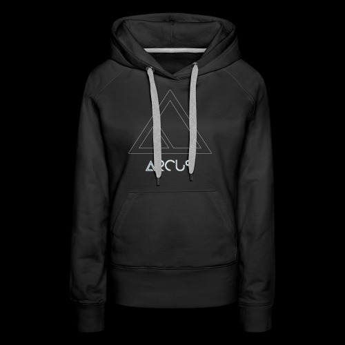 Arcus logo Blanc - Sweat-shirt à capuche Premium pour femmes