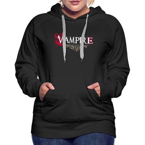 Vampire - Felpa con cappuccio premium da donna