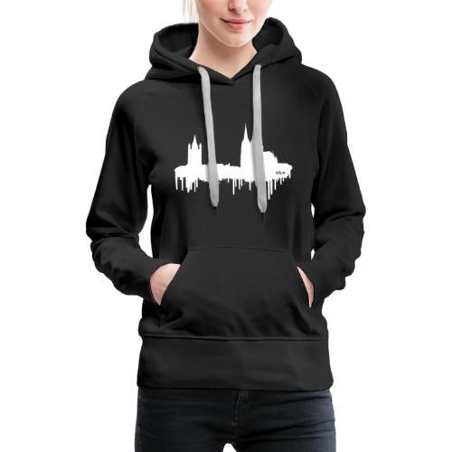 Skyline Köln - Weiß - Frauen Premium Hoodie