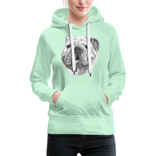 EngelskBulldog M - Dame Premium hættetrøje