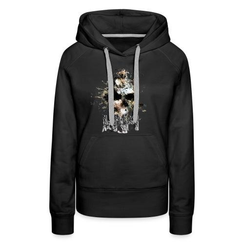HNH METAL SKULL - Sweat-shirt à capuche Premium pour femmes