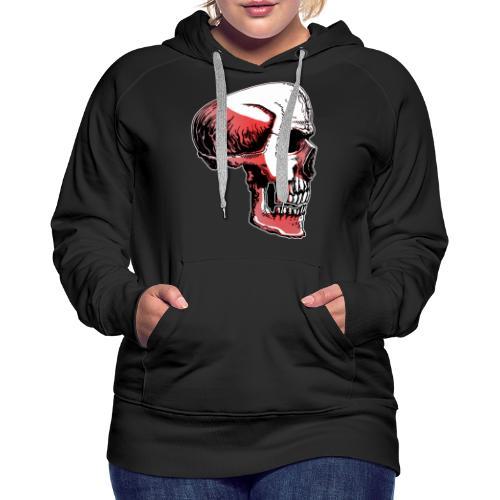 Crimewear© Skullside collored - Premiumluvtröja dam