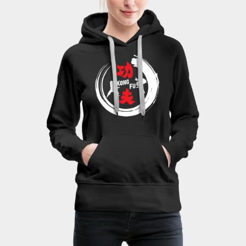 JLB Kung Fu 150520182 on black - Frauen Premium Hoodie