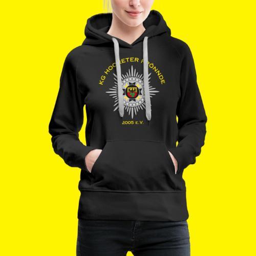 Gelbe Schrift - Frauen Premium Hoodie