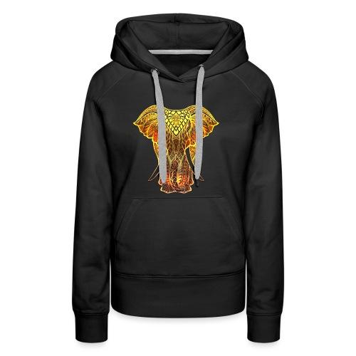 Eléphant Feu - Sweat-shirt à capuche Premium pour femmes