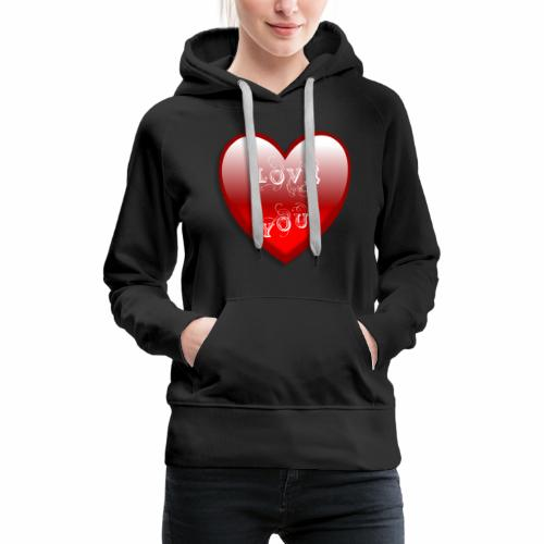 Love You - Frauen Premium Hoodie