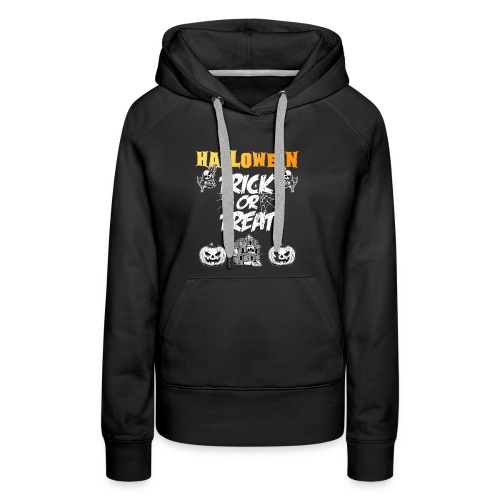 Halloween Night Trick Or Treat Skeletons Pumpkins - Women's Premium Hoodie