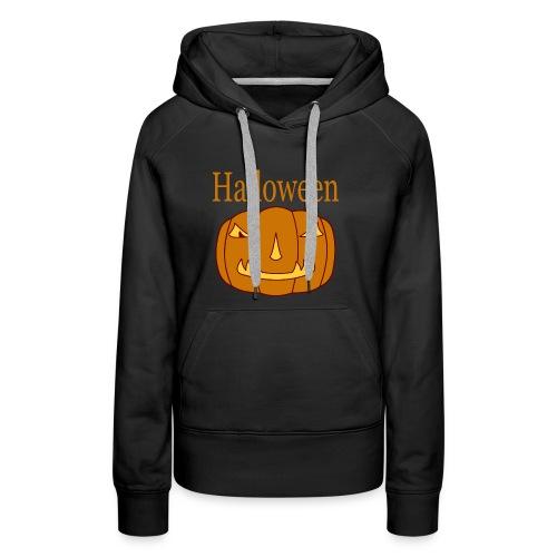 Halloween Kürbis mit Gruselmaske - Frauen Premium Hoodie