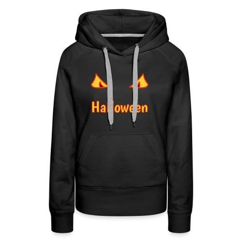 Halloween mit Gruselaugen - Frauen Premium Hoodie