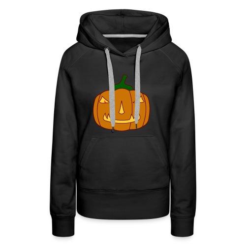 Halloween Kürbis mit Gruselgesicht - Frauen Premium Hoodie