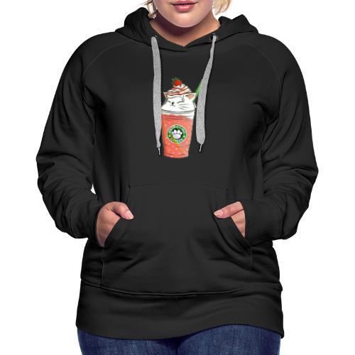 Catpuccino White - Women's Premium Hoodie