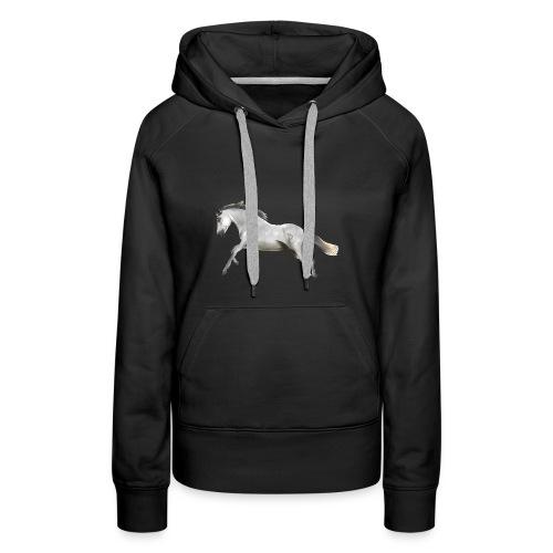 Valeroso horse - Sweat-shirt à capuche Premium pour femmes