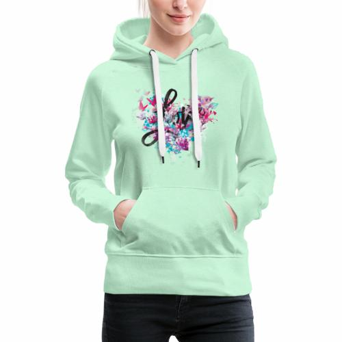 Love with Heart - Women's Premium Hoodie