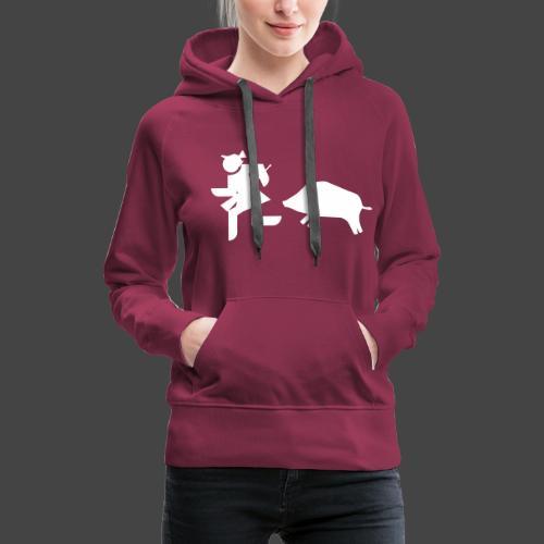 """Jägerin vs Bache""-Jägerinnenshirt - Frauen Premium Hoodie"