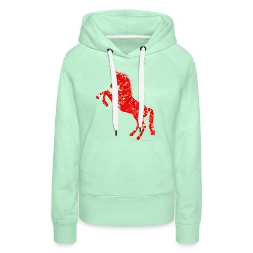 unicorn red - Bluza damska Premium z kapturem