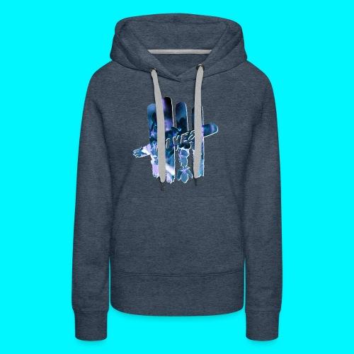 FIVES space flowers - Sweat-shirt à capuche Premium pour femmes