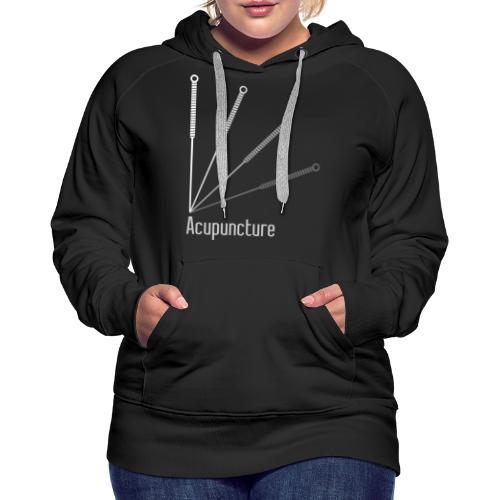 Acupuncture Eventail (logo blanc) - Sweat-shirt à capuche Premium pour femmes