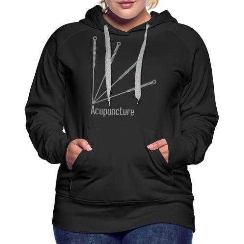 Acupuncture Eventail vect - Sweat-shirt à capuche Premium pour femmes