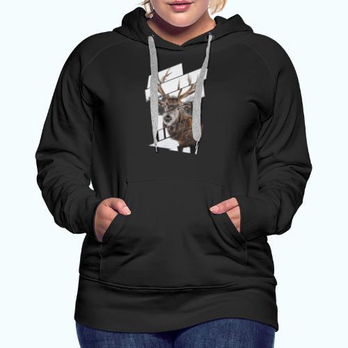 Hipster reindeer - Women's Premium Hoodie