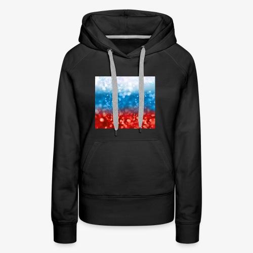 05 Russland Flagge Fahne Glitzer Russia - Frauen Premium Hoodie